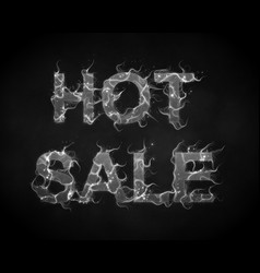 hot sale text with smoke flames background vector image