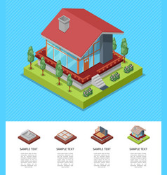 house engineering and development isometric poster vector image