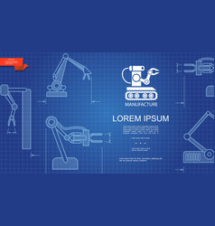 Industrial automated manufacturing template vector