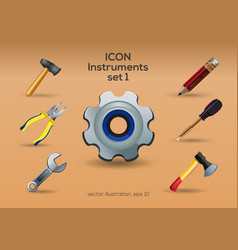 instruments icon set vector image