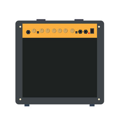 isolated flat speaker vector image