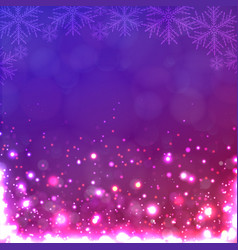 Lights on purple background with snowflakes vector