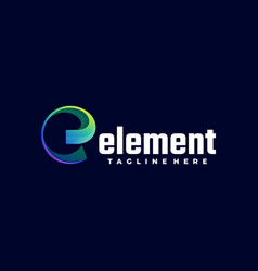 logo element gradient colorful style vector image
