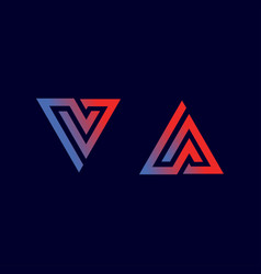 logo letter a and v vector image