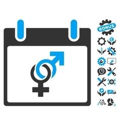 Marriage Calendar Day Icon With Bonus vector