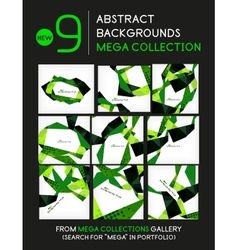 Mega collection geometric unusual backgrounds vector