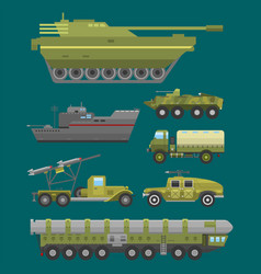 military technic army war transport fighting vector image