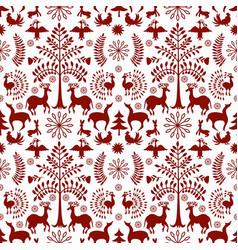 Otomi style winter pattern vector