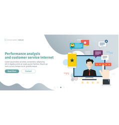 Performance analysis and customer service interne vector