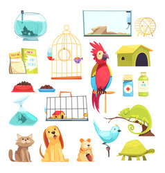 Pet shop set vector