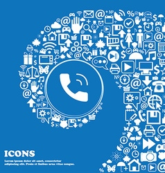 Phone icon sign Nice set of beautiful icons vector