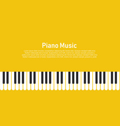 Piano on a yellow background vector