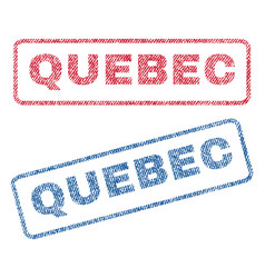 Quebec textile stamps vector
