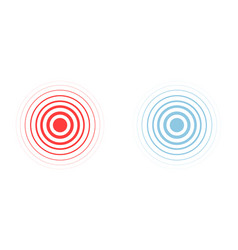 Red and blue ring pain circle vector