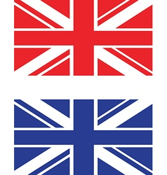Red and blue uk flag vector