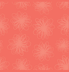 red florals texture seamless background vector image