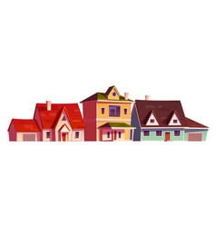 residential houses exterior in suburb district vector image