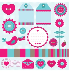 scrapbook elements set vector image vector image