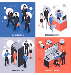 Security isometric design concept vector