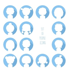 Set of colorful silhouette people icons Funny vector image