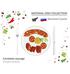 Slovenian cuisine european national dish vector