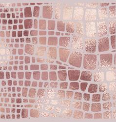 Snake skin rose gold elegant texture with foil vector