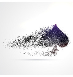 Spade symbol design made with particles vector