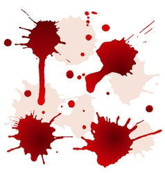 Splattered blood stains vector