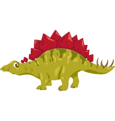Stegosaurus dinosaur cartoon vector