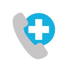 telephone service emergency hospital health care vector image