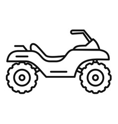 Top quad bike icon outline style vector