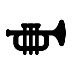 Trumpet instrument musical icon simple line vector