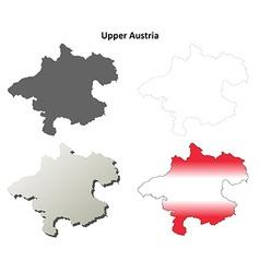 Upper Austria blank detailed outline map set vector