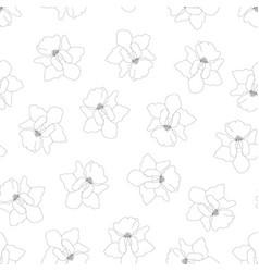 Vanda miss joaquim orchid outline on white vector