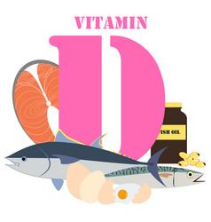 Vitamin d healthy nutrient rich food vector