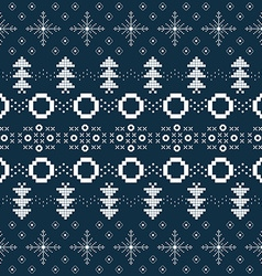 Winter or Christmas background with Norway knitted vector