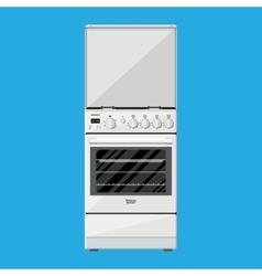 Gas or Electric Cooker in flat style vector image vector image
