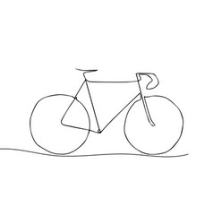 one line drawing or continuous line art of a vector image