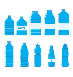 plastic bottles icon set on white background vector image