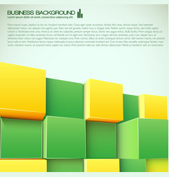 3d blocks business background vector image vector image