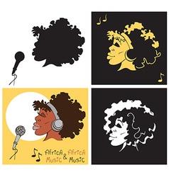 African American woman singing vector image