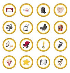 cinema cartoon icon circle vector image vector image