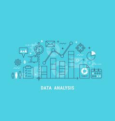 data analysis thin line vector image
