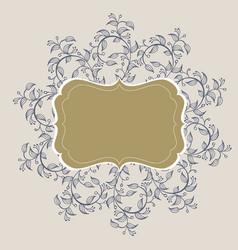 flourish calligraphy vintage frame vector image vector image