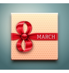 Gift for 8 March vector image