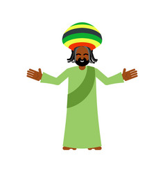 god ganja idol jah gives rasta reggae rastafarian vector image vector image