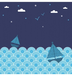 night boats vector image vector image