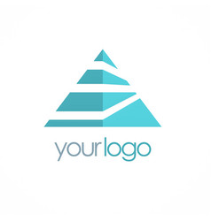 triangle colored business logo vector image vector image