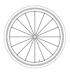 Bike wheel - on white backgrou vector