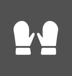 mittens icon on dark background vector image